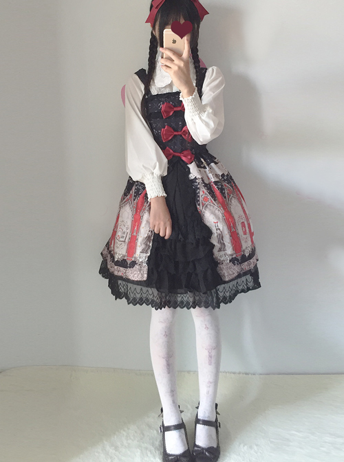 Japanese Traveller\\\'s Anthem Sling Dress Sweet Lolita