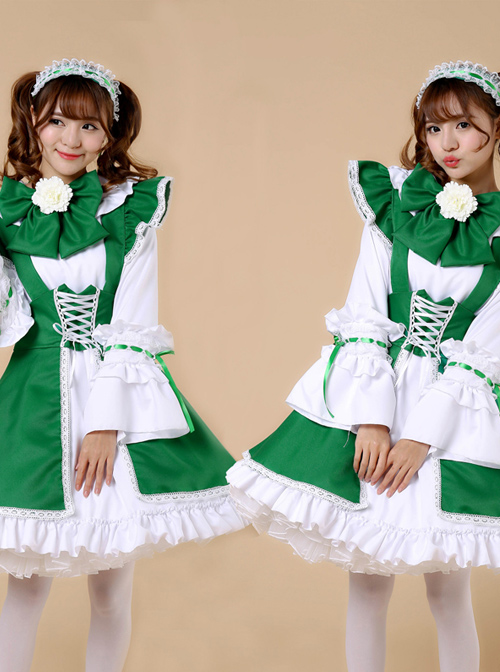 Lace-up Big Bowknot Long Sleeves Sweet Lolita Dress