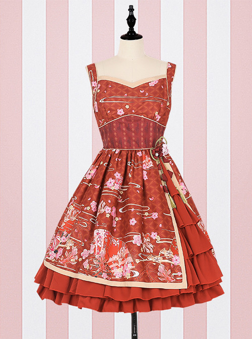 GokuRakuJoudo Dance Improved Kimono Cosplay Lolita Sling Dress