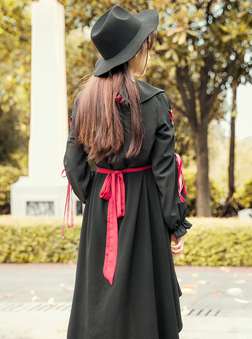 Puppet Doll Black Cute Long Sleeve Sweet Lolita Dress