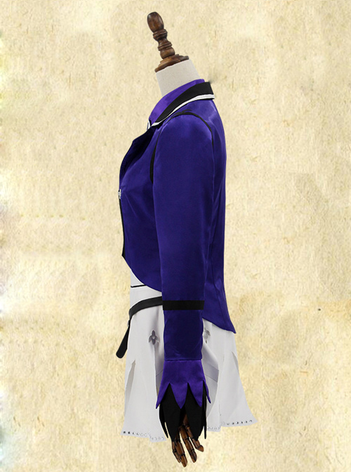 Fate Grand Order Saber Purple Uniform Cosplay Costume