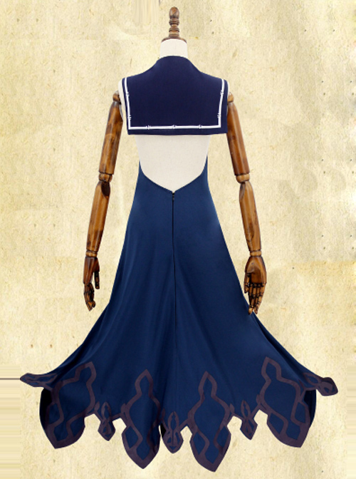 Death Alice Mermaid Navy Blue Sexy Cosplay Costume