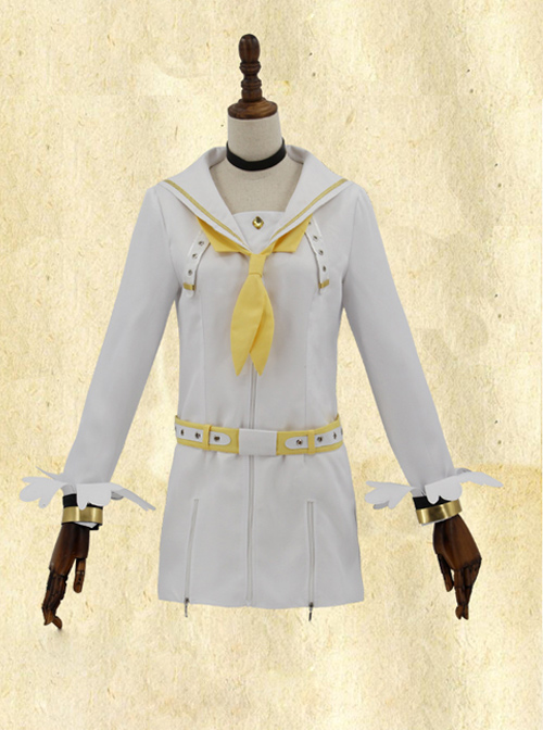 Fate Grand Order Saber White Navy Suit Cosplay Costume