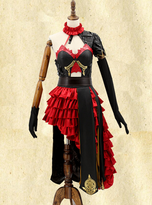 Death Alice Cinderella Black-red Dress Cosplay Costume