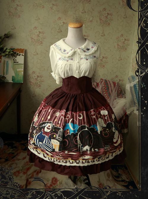 Magic Tea Party Circus Maiden Series High Waist Sweet Lolita Skirt