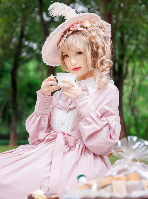 Rose Manor Classic Lolita Long Sleeve Dress
