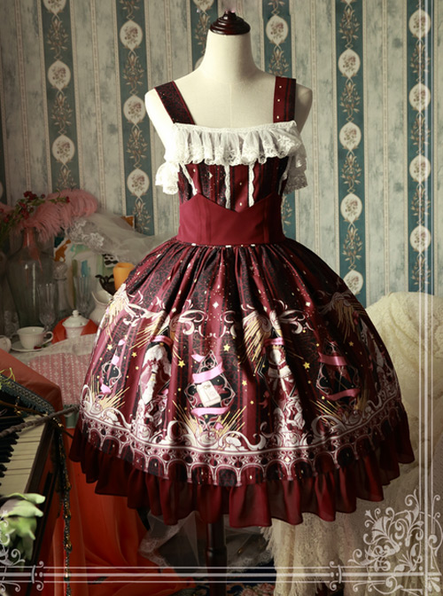 Magic Tea Party Starry Sky City Series Classic Lolita Sling Dress