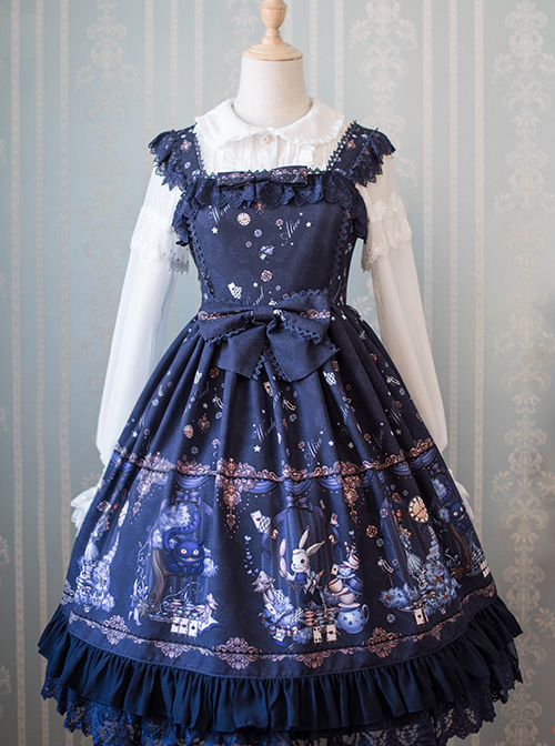 Original Lolita Design Alice Alice\\\'s Dreamland Small High Waist Jsk