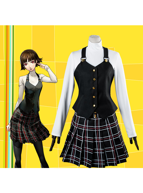 Persona 5 Niijima Makoto Female Winter Campus Uniform Cosplay Costumes