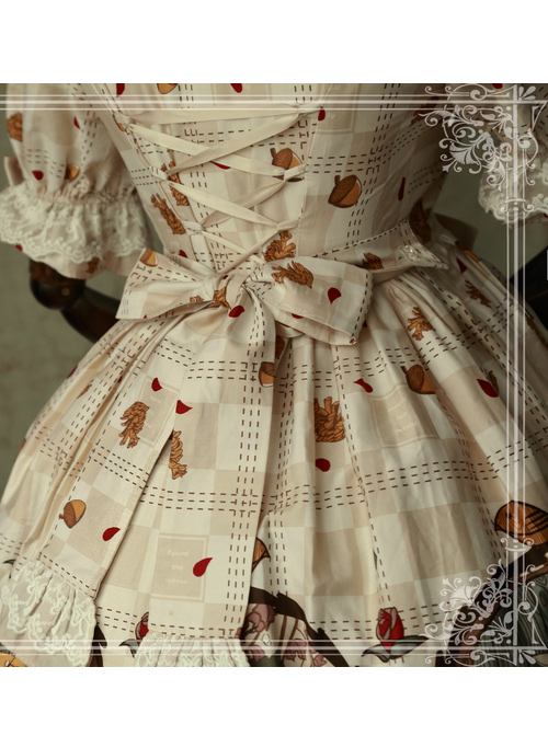 Magic Tea Party Squirrel Couple Original Print OP Lolita Lolita Princess Dress Dress Soft Girl