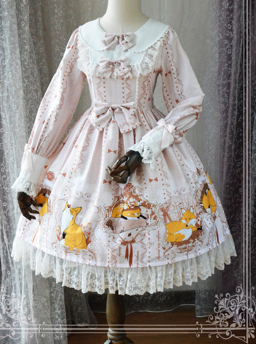 Magic Tea Party Antonio\\\'s Four Seasons Original Print Dress OP Spot Lolita