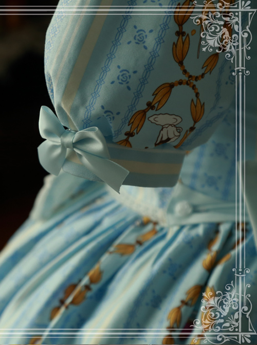 Magic Tea Party Alice Print OP Dress Lolita Skirt Japanese Lolita Soft Girl