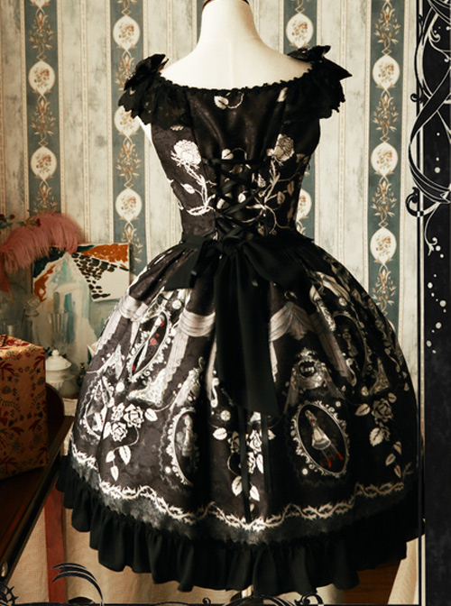 Magic Tea Party Seven Deadly Sins Original Print Dress JSK Spot Lolita
