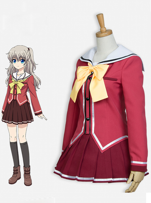 Charlotte Tomori Nao Female Uniforms Cosplay Costumes