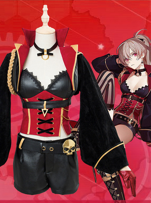 Azur Lane Jean.Bart Dunkerque Female Clothing Full Set Wig Cosplay Costumes