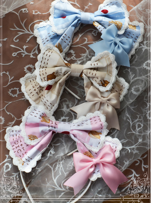 Magic Tea Party Squirrel Couple\\\'s Afternoon Original Print KC Headband Lolita
