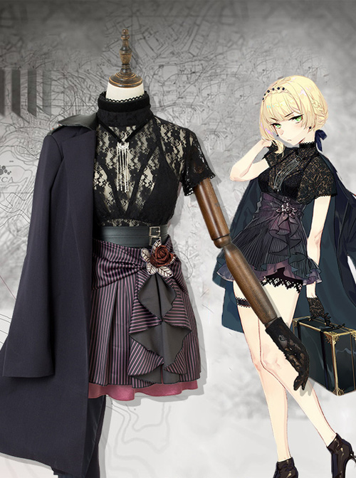 Girls Frontline Welrod Mk.2 Night Crisis Two Anniversary Dress Female Cosplay Costumes