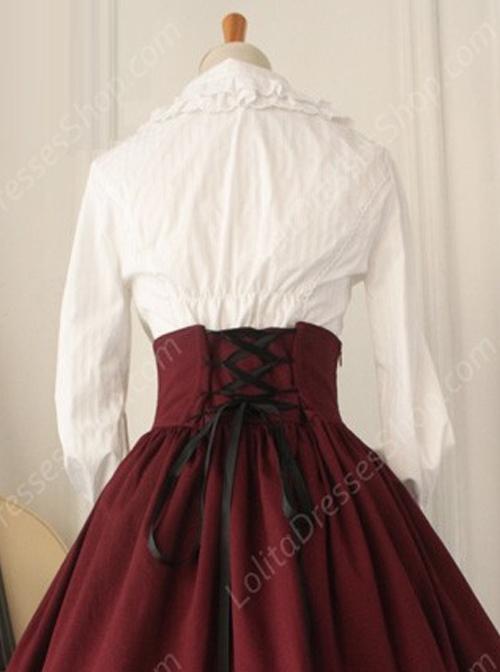 13c17fa7 Cheap Elegant White Lace Doll Collar Classic Lolita Long Sleeve ...