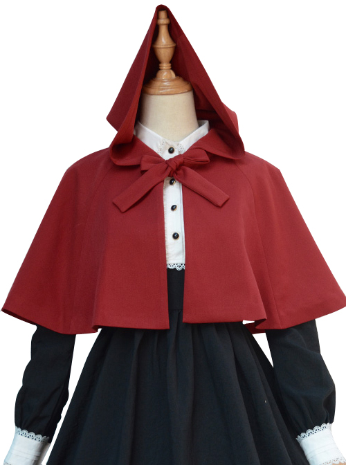 Brocade Park Autumn And Winter New Lolita Little Red Riding Hood Literary Retro Cloak Shawl Cloak Short Coat