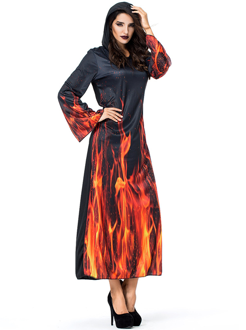 Duel Monsters Fire Reaper Wizard Witch Female Cosplay Costumes