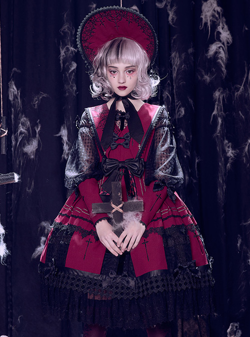 The Holy Cross Series OP Gothic Lolita Long Sleeve Dress