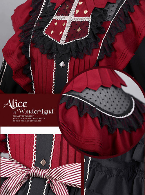 Dark Alice Series 13 Full Set Gothic Lolita Half Sleeve Dress And KC Set