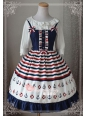 Sailor Style Applique Blue Ocean Magic Tea Party Lolita JSK