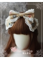 Lovely Owl Sweet Printed Magic Tea Party Lolita Headbow