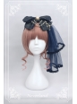 Fly Me to Polaris Gold Stamping Chiffon Neverland Lolita Headbow with fixed veil