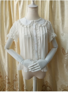 Original Doll Collar Short Sleeved Chiffon Princess Lolita Blouse
