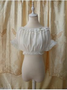 Original Summer Short Sleeved Chiffon Lace Lolita Bottoming Shirt