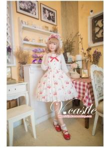 Chiffon Strawberry Meow Printing Lolita JSK