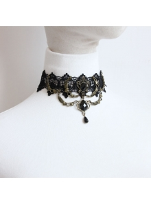 Gothic Punk Heart-shaped Lace Lolita Necklace