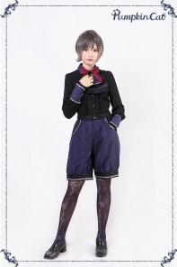 Pumpkin Cat -Beauty the Rose- Ouji Lolita Short Pants