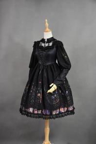 Original design retro Muxia color window dress