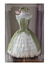 Magic Tea Party Aideli Series Palace Style Sleeveless Dress Classic Lolita