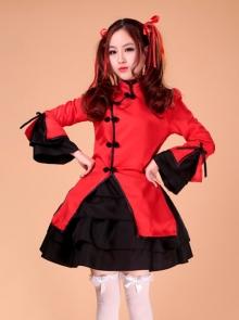 Chinese Style Lolita Amelioration Cheongsam Cosplay Costume