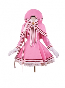 Card Captor Sakura KINOMOTO SAKURA Pink Cosplay Costumes