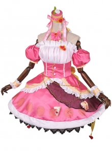 LoveLive Nico Yazawa Pink Cake Dress Cosplay Costumes