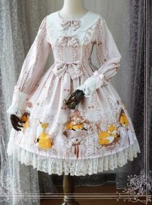 Magic Tea Party Antonio's Four Seasons Original Print Dress OP Spot Lolita