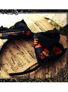 Magic Tea Party Halloween Print Cloth Headband KC Spot Lolita Pumpkin Head