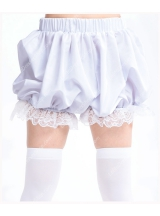 Plain White Cotton Lace Sweet Lolita Bloomer