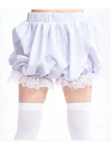 Plain White Cotton Lace Sweet Lolita Bloomer