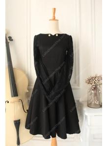 Downton Abbey Classic Black Lace cardigan Front Gothic Lolita Dress