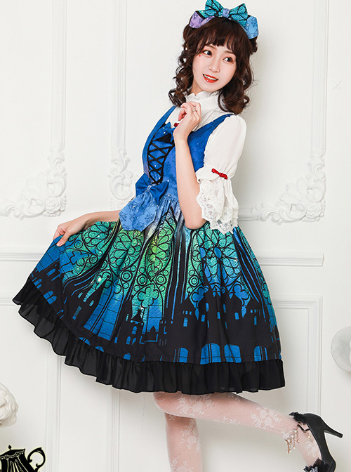 Magic Tea Party City Of Aurora Series Classic Lolita Chinese Style Short Sleeve Shirt