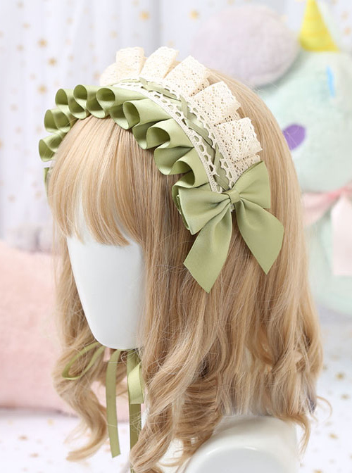 Cotton Bowknot Lace Sweet Lolita Multicolor Headband