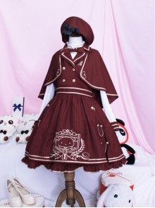 Royal College Style School Lolita Plaid Dress Suit