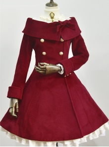 Winter Double-breasted Polychromatic Optional Classic Lolita Wool Coat
