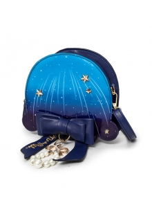 Blue Meteor Jellyfish Bowknot Pearl Sweet Lolita Shoulder Bag