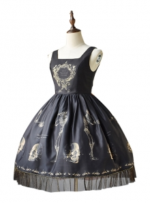 Human-bone Series Retro Gothic Lolita Sleeveless Dress